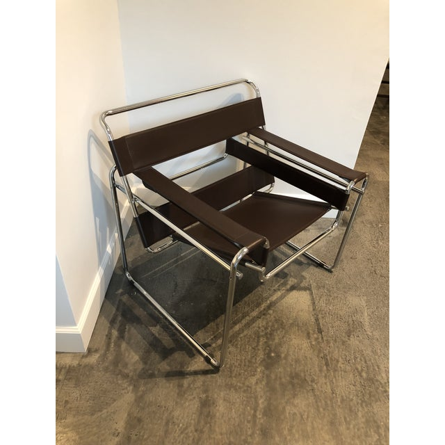 """Metal Modern """"Wassily"""" Style Chair For Sale - Image 7 of 7"""