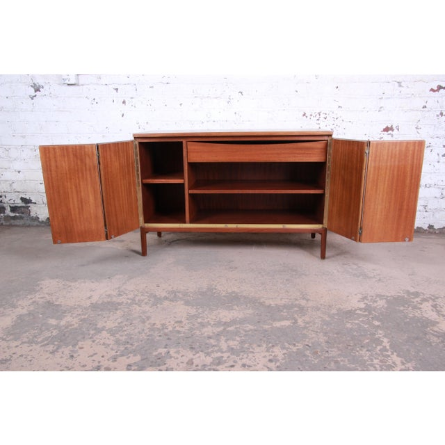 Paul McCobb for Calvin Irwin Collection Mahogany Sideboard Credenza, Newly Restored For Sale In South Bend - Image 6 of 13