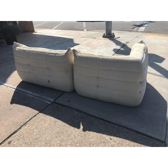1970s Mid-Century Modern Ligne Roset Togo French Sectional Sofas - 2 Pieces For Sale - Image 11 of 13