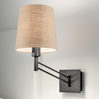 Adjustable Black Bronze Wall Light With Shade Preview