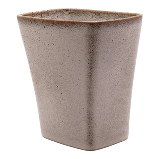 1950s Vintage Ballard Pottery Vermont Gray Vase Planter For Sale