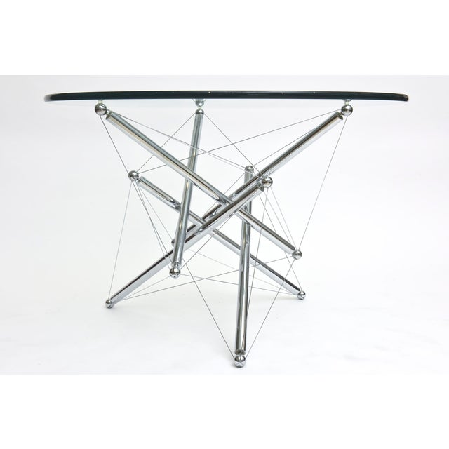 Italian Modern Polished Chrome Low Table, Theodore Waddell for Cassina For Sale In Miami - Image 6 of 9