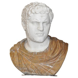 19th Century Marble Bust of the Emperor Caracalla For Sale
