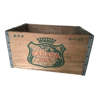1960s Vintage Canada Dry Wood Crate