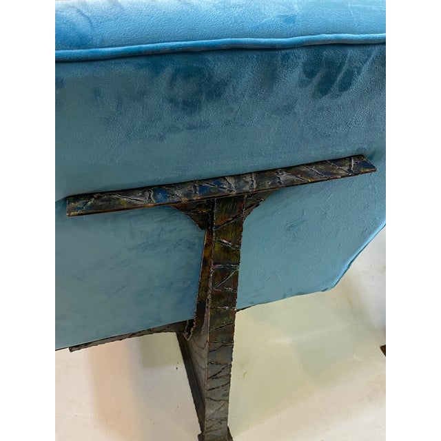 Metal Paul Evans Style Studio Chairs- A Pair For Sale - Image 7 of 8