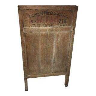 Vintage National Co. #710 Wood Washboard