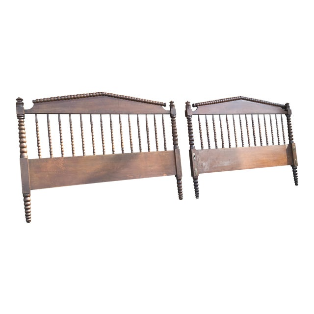 Jenny Lind Full Size Spindle Headboard Footboard & Side Rails For Sale