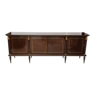 A French Empire Style Palisander and Bronze Mounted Credenza, attr. to Jansen For Sale