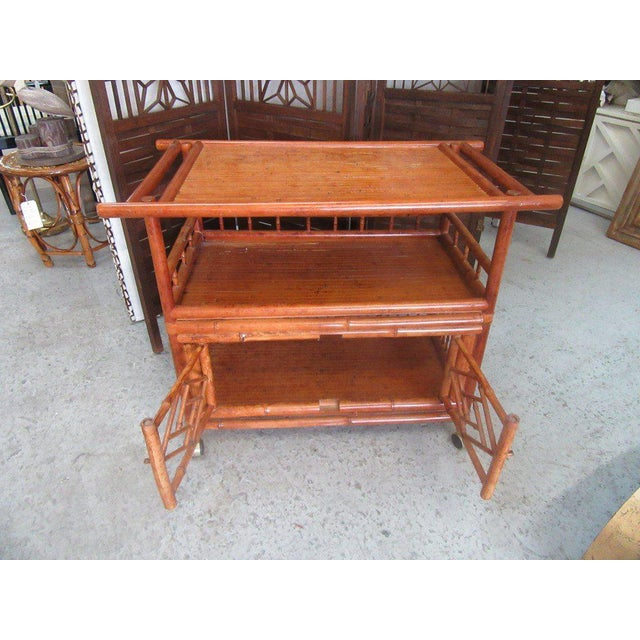 Tortoise Shell Bamboo Cart - Image 4 of 8