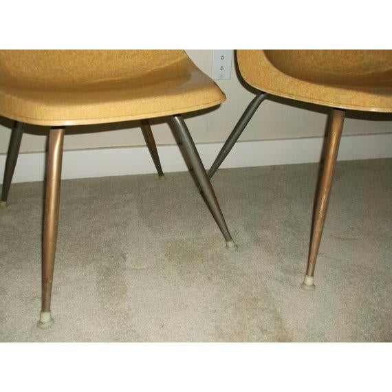 Vintage Borg-Warner Fiberglass Shell Chairs - Pair For Sale - Image 6 of 6
