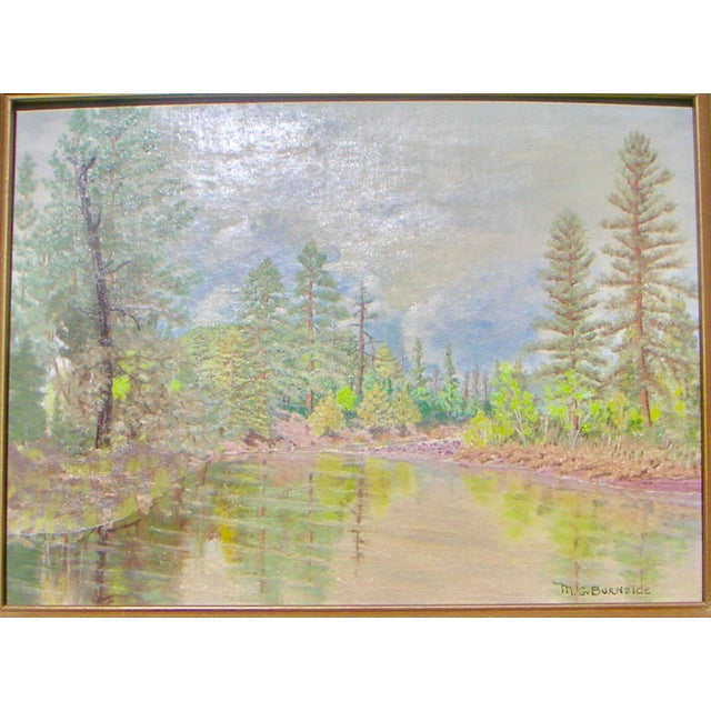 Lodge Feather River California Painting For Sale - Image 3 of 5