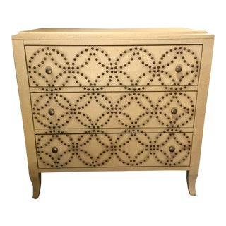 Studded Three Drawer Chest For Sale