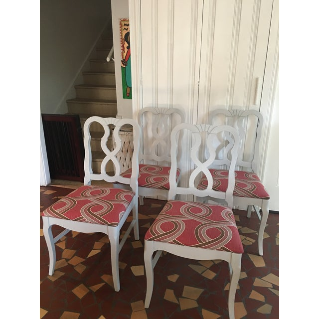 Dove Gray Ribbon Back Chairs - Set of 4 - Image 2 of 8