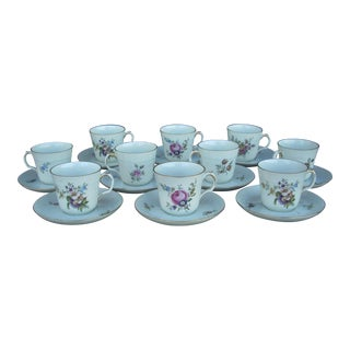 Royal Copenhagen Demitasse Cups & Saucers - Set of 10