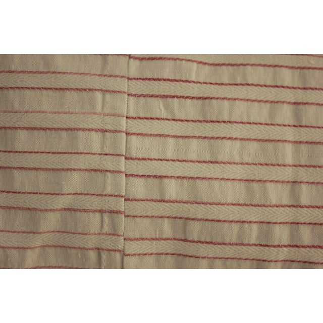 Textile Antique French Pillement Inspired Red Resist Printed Textile Fabric With Ticking For Sale - Image 7 of 10