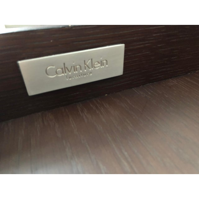 2010s Modern Calvin Klein Console Table With Storage For Sale - Image 5 of 12