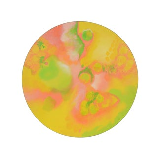 """Mid-Century Modern """"Melon"""" Round Painting by Harris Strong For Sale"""