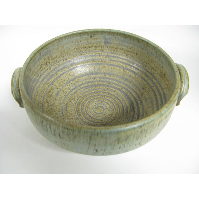 1970s Mid Century Modern Studio Pottery Bowl For Sale - Image 11 of 13