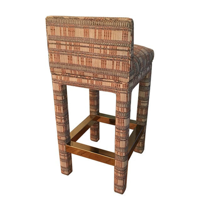 Incredible Pair of Parsons Style Bar Stools For Sale - Image 4 of 6