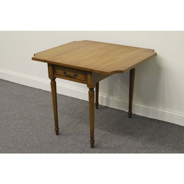 20th Century Traditional Columbia Manufacturing Mahogany Pembroke End Table For Sale In Kansas City - Image 6 of 13
