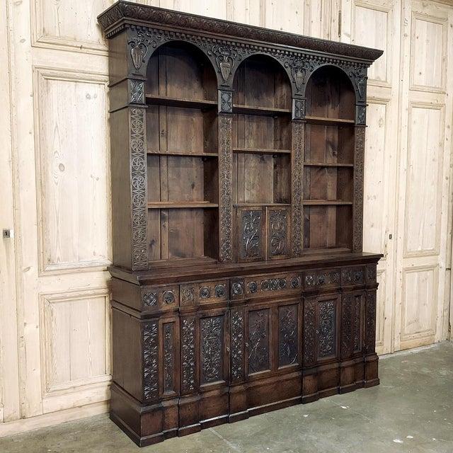 Renaissance 19th Century Renaissance Bookcase For Sale - Image 3 of 13