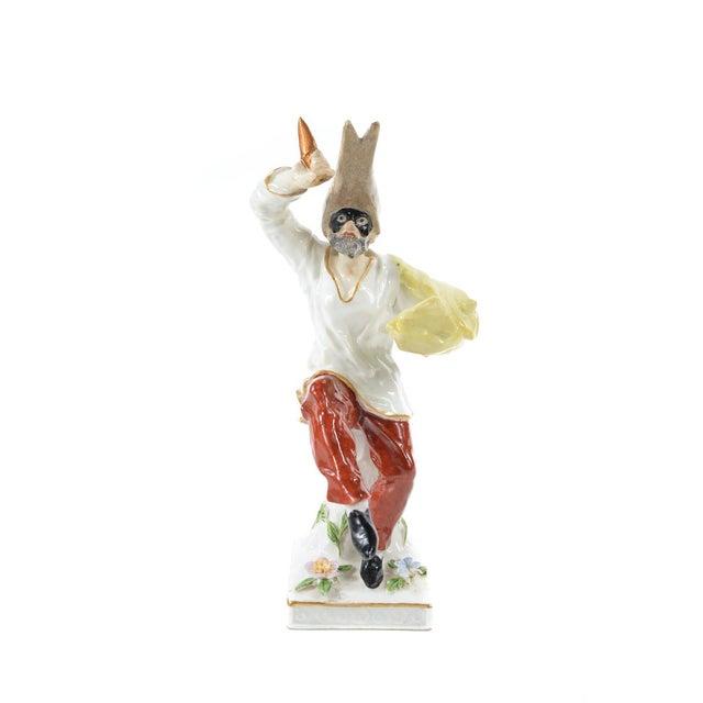 German Porcelain Commedia Dell'Arte Figurine - Image 8 of 9