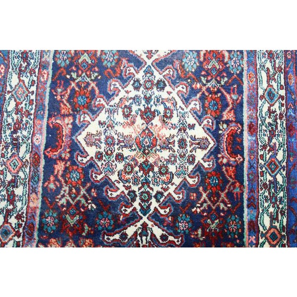 Hand Knotted Persian Mahal Runner - 3′10″ × 10′4″ - Image 10 of 11