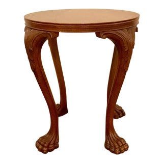 Transitional Hickory Chair Jones Footed Side Table For Sale