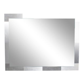 Mid Century Modern Paul Evans Attr CityScape Mirror, Stainless Steel, 1970s For Sale