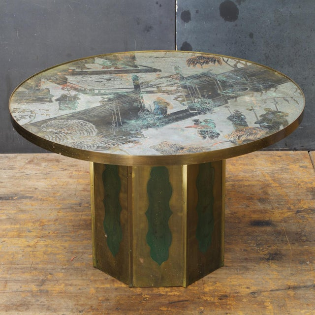 Gold 1960s Chinoiserie Kelvin LaVerne Bronze Chan Coffee Table For Sale - Image 8 of 8