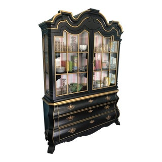 1960s Hollywood Regency Dorothy Draper for Henredon Viennese Collection China Cabinet For Sale
