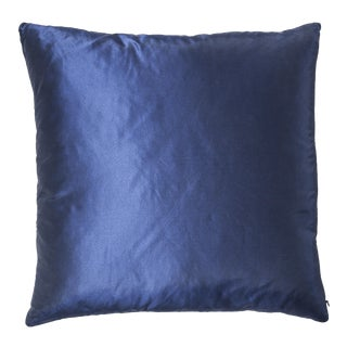 Cobalt Silk Pillow For Sale