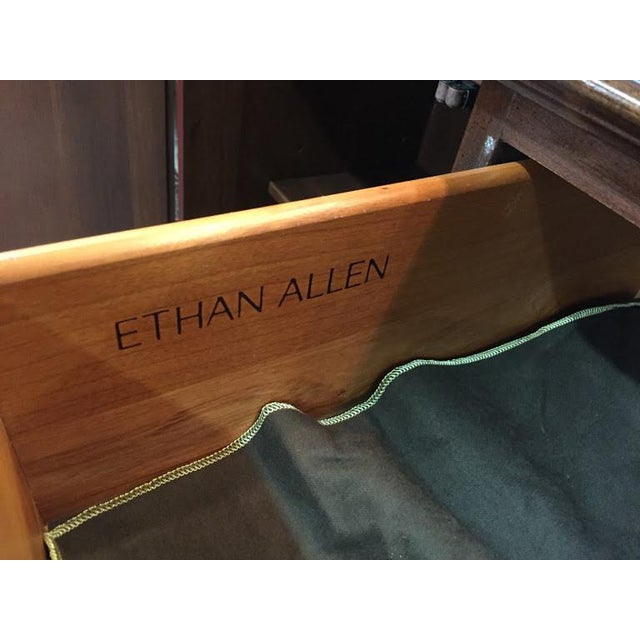 2000 - 2009 Ethan Allen Full Bonnet Solid Cherry China Cabinet For Sale - Image 5 of 12