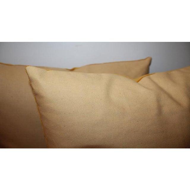 Pair of Sunrise Orange Velvet Pillows For Sale In Los Angeles - Image 6 of 7