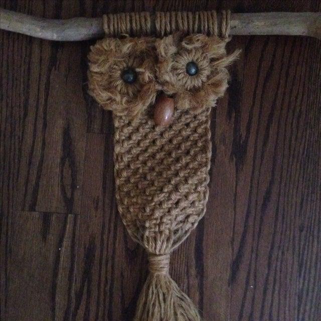 Vintage Macrame Owl - Image 9 of 11