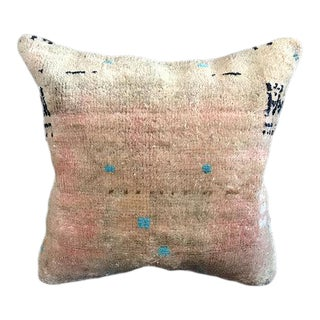 Faded Antique Handwoven Pillow Case For Sale