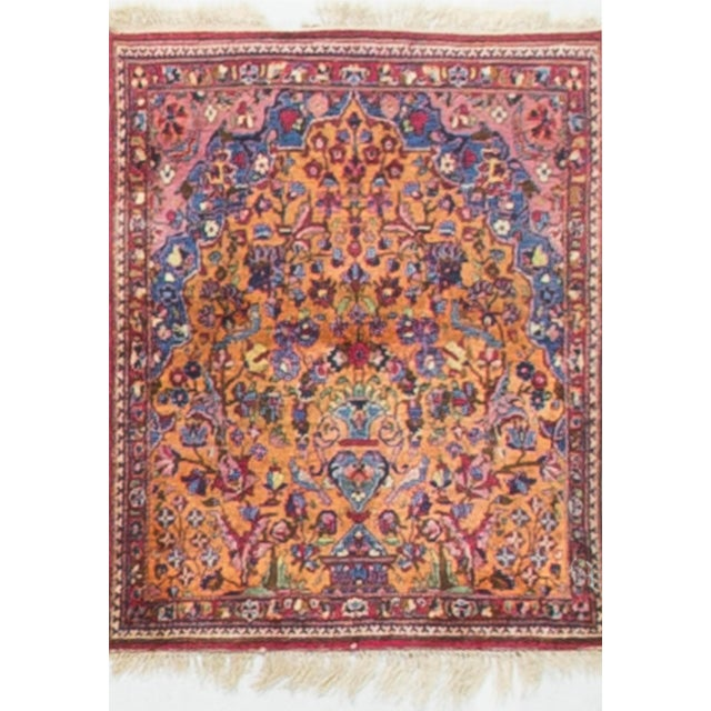Vintage 1940s Persian Silk Tabriz Rug - 2' X 3' For Sale - Image 4 of 4
