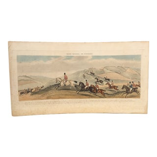 Antique Victorian Print Road Riders, or Funkers 1841 For Sale