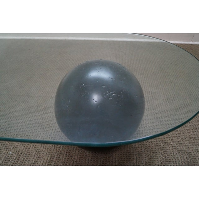Mid-Century Curved Waterfall Glass Coffee Table For Sale In Philadelphia - Image 6 of 10