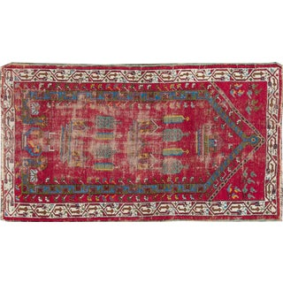 "Apadana Antique Turkish Geometric Rug - 3'1"" X 5'5"""