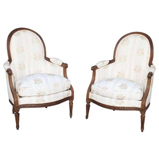 Rare Pair of 18th Century. Child's Bergères Stamped Nadal-Laine For Sale