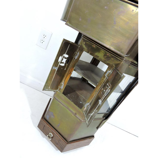 Mid 20th Century Vintage Chinese Hawkers Brass Food Cart With Stand For Sale - Image 5 of 6