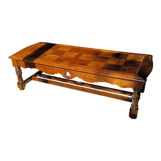 Parquet Top Coffee Table - Get It While You Can!!