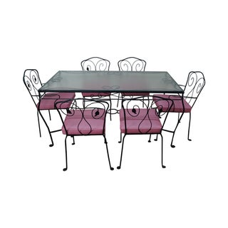Ivy Terrace Vintage Iron Patio Dining Set For Sale