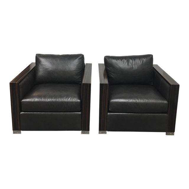 Bernhard Soft Leather Chairs - a Pair - Image 1 of 10
