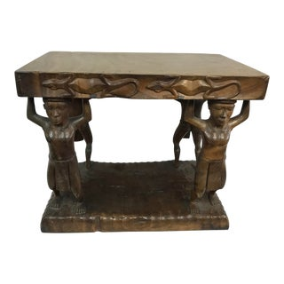 20th Century Tribal Single Log Carved Stool