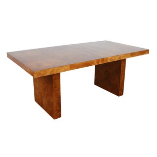 Mid-Century Patchwork Burl Wood Dining Table For Sale