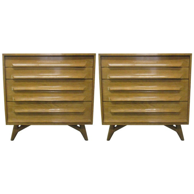 Wood Pair of Cerused Oak Chests For Sale - Image 7 of 7