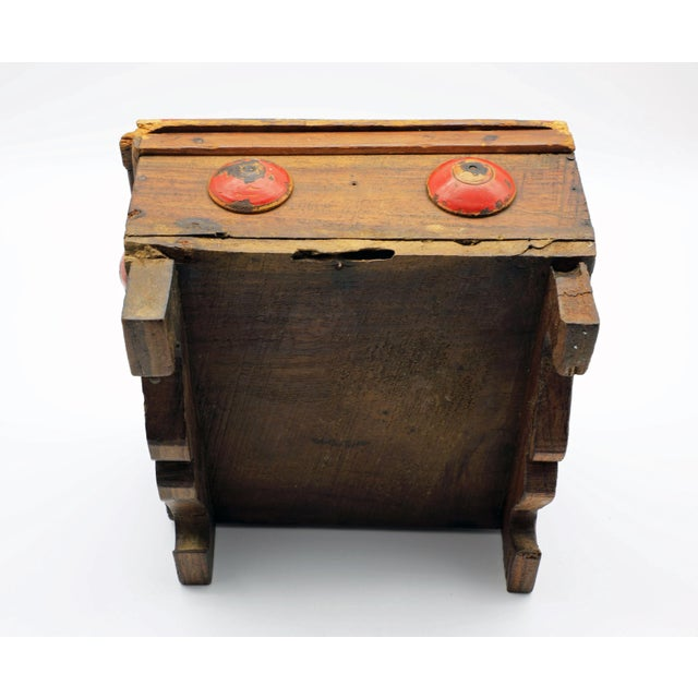 19th Century Antique Afghan Wood Spice Box For Sale - Image 9 of 13