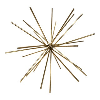 World's Away Urchin Starburst Gold Decorative Object - Large For Sale